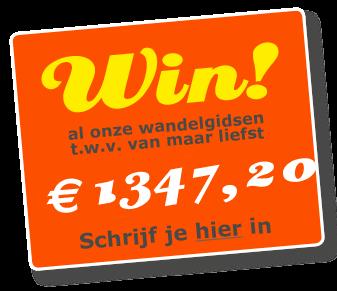 Win de mooiste wandelgidsen van Nederland.